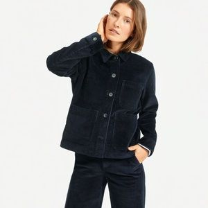 NEW women's EVERLANE Corduroy Chore Jacket Navy S